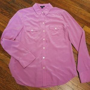 🌺ANN TAYLOR Silk Button Front Blouse Sz 8